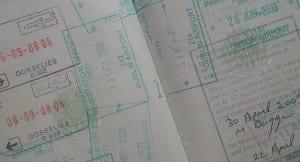 Passaporte e os Vistos das Imigrações