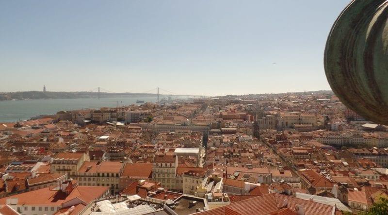 Vista do Castelo de São Jorde em Lisboa, Portugal