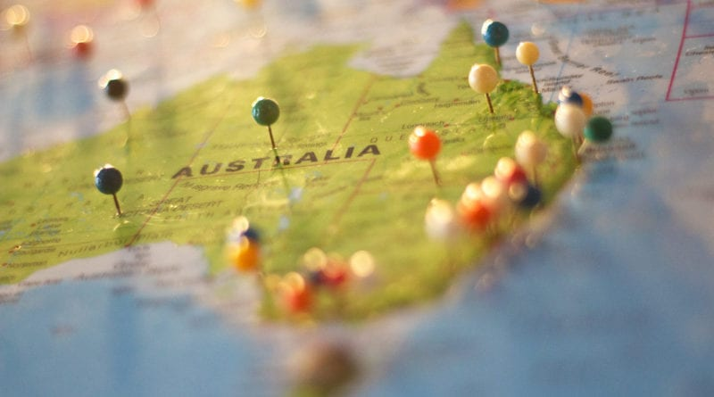 Mapa Austrália - Fonte-Pexels