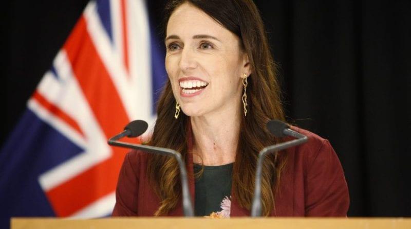 Primeira Ministra da Nova Zelândia Jacinda Ardern, entrevista no parlamento em Wellington, Jan. 28, 2020