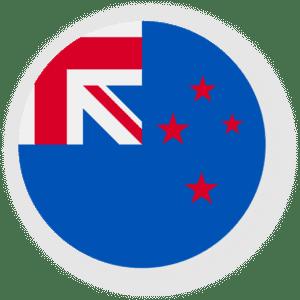 Nova Zelândia - Icone Bandeira Redonda - Feepik Falticon